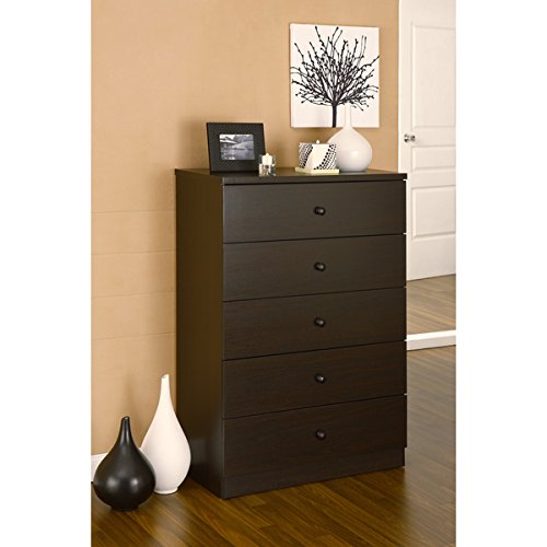 Furniture of America Modern 5-drawer Wood Chest - Coffee Bean