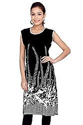 Kurti Studio Festive Black Unstitched Cotton Kurti Dress Material