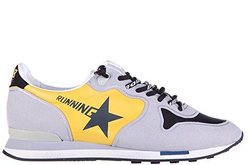 Golden-Goose-zapatos-zapatillas-de-deporte-hombres-en-ante-nuevo-running-gris