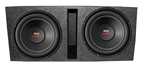 """2) New Pyle PLPW15D 15"""" 2000 4-Ohm DVC Car Subwoofer Sub + Dual Ported Enclosure"""