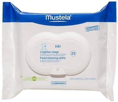Mustela Bebe Range Facial Cleansing Cloths - 25 ct