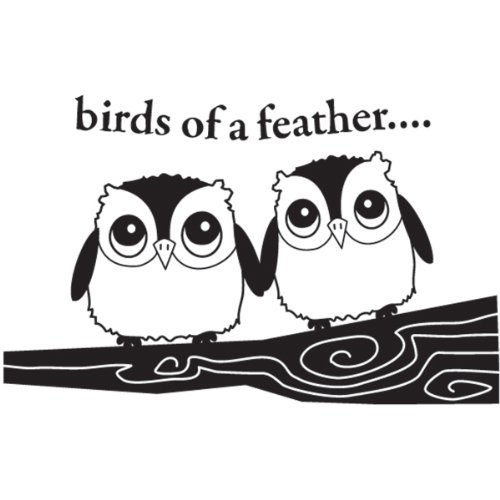 Hampton Art Owls Of A Feather Wood Rubber Stamp