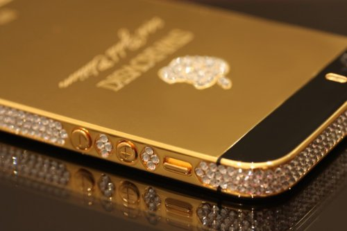 SWAROVSKI 24ct Gold iPhone 5S 64gb Unlocked Brand New in Box