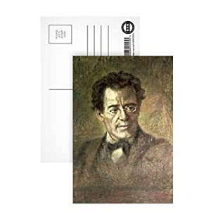 Gustav Mahler (1860-1911) by Anton Wagner - Postcard (Pack of 8) - 6x4 inch - Art247 Highest Quality - Standard Size - Pack Of 8