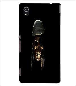 PrintDhaba Pirate's Skull D-1181 Back Case Cover for SONY XPERIA M4 AQUA (Multi-Coloured)