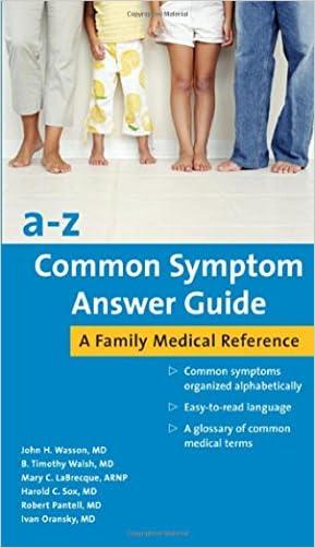 a-z Common Symptom Answer Guide written by John H Wasson