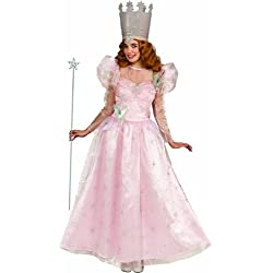Rubie's Costume Wizard Of Oz Deluxe Adult Glinda The Good Witch with Dress and Crown, Pink, Adult One Size