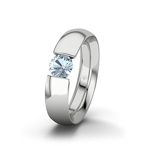 21DIAMONDS Women's Ring Chiang Mai Blue Topaz Diamond Engagement Ring - Silver Engagement Ring