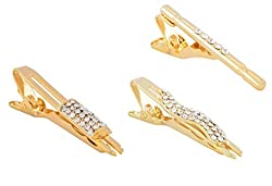 Veera Paridhaan Stylish Golden Tie Pin for Men-Set of 3