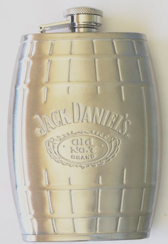 Jack Daniel's Stainless Steel Barrel Flask 6 Oz Silver Color (Jack Daniels Barrel Flask compare prices)