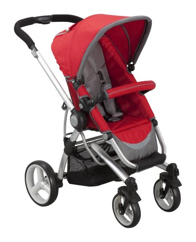 Delta Children's Products Simmons Tour Vantage Stroller, Red/Grey (Discontinued by Manufacturer) - 1