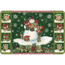 Kay Dee Cushioned Comfort Anti Fatigue Padded Throw Area Rug Kitchen Decor Mat Snowman