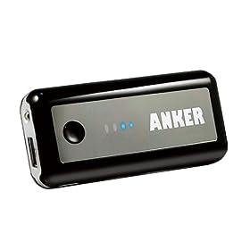 Anker Astro 5600mAh Batteria esterna (Caricatore) con torcia per Apple: iPhone 4/4S/3GS, ipod touch, ipod classic, iPod nano; Motorola: Atrix, Droid Razr, Droid 3, Defy, Defy +; Blackberry: Bold 9900, Torch, Cuive, Bold, Storm; Sony Ericsson: Xperia Arc S; Google: Nexus One - Black
