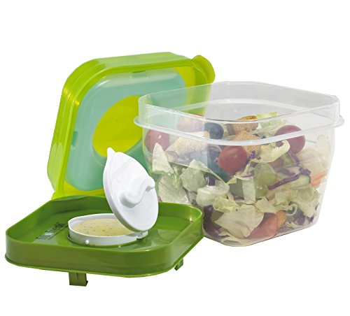 Fit & Fresh Chilled Salad Shaker Container with Dressing