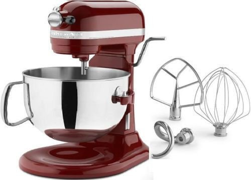 New Kitchenaid 600 Big Capacity 6-Quart Pro Stand Mixer Silver & Gloss Cinnamon front-554005