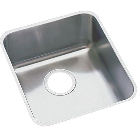 Elkay ELUHAD161645 Gourmet Lustertone Stainless Steel 18-1/2-Inch x 18-1/2-Inch Undermount Kitchen Sink