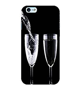printtech Wine Drink Glass Back Case Cover for Apple iPhone 6S Plus