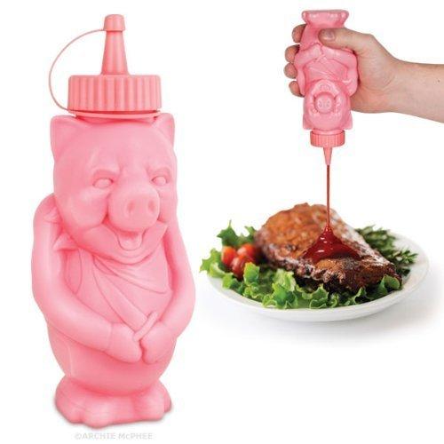 Accoutrements BBQ Pig Condiment Bottle