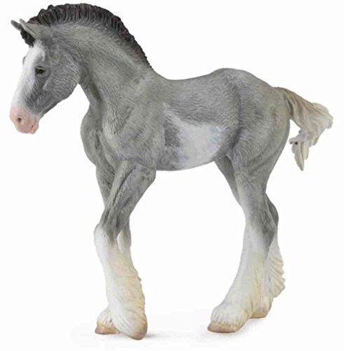 CollectA Clydesdale Foal, Black Sabino Roan