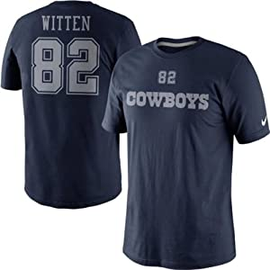 Jason Witten #82 Dallas Cowboys Player Name & Number T-Shirt Adult XXL Tee by Dallas Cowboys Merchandise