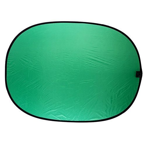 ETvalley Background Panel 5'x7' Collapsible Chroma key Green and Blue 2-in-1for Photography-Durable, Functional, Reversible, Portable and Versatile, Blue/Green