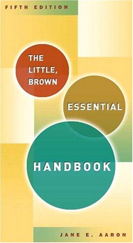 Little, Brown Essential Handbook, The (5th Edition)