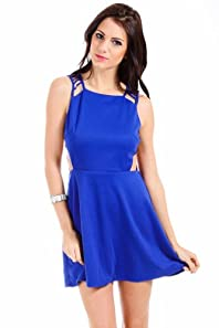 LovPosh Deconstructed Back Dress in Blue