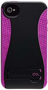 Case-Mate Pop CM017861 Case with Stand for Apple iPhone 4/4S (Black-Raspberry)