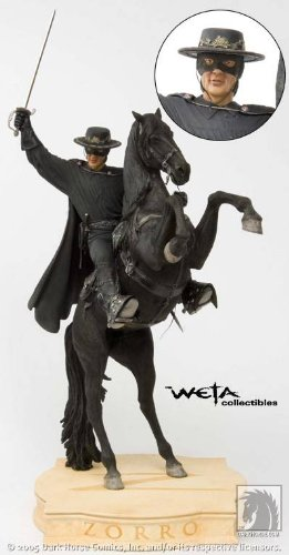 "Zorro on Tornado 22"" High Statue Weta Collectibles"