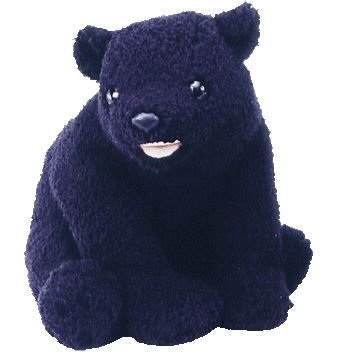 TY Beanie Buddy - CINDERS the Bear - 1