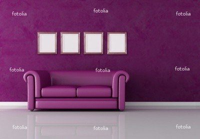 "Wallmonkeys Peel and Stick Wall Graphic - Classic Purple Interior - 24""W x 17""H"