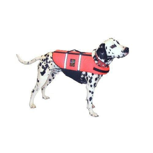 Pet-Saver Lifejacket Dog Flotation Device (Neon Orange, M, pets 20 to 50 lbs., with girth of 22 to 29 in. )