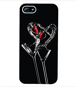 ColourCraft Valentine Love Back Case Cover for APPLE IPHONE 5S