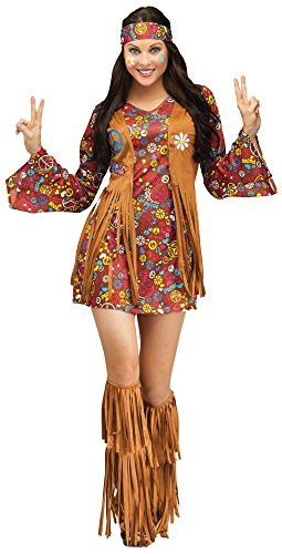 Fun World Women's Peace Love Hippie Costume