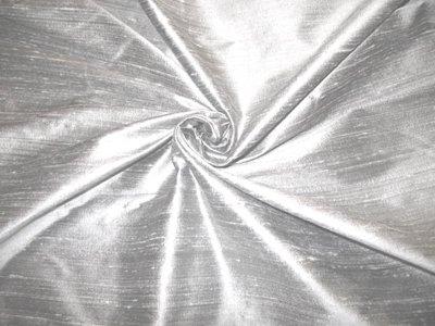 Solid Silk Dupioni - Silver