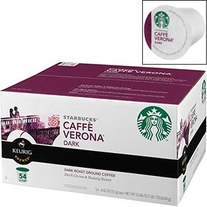 Starbucks K Cup Coffee  Cafe Verona  54 pack