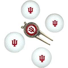 Indiana Hoosiers Pack of 4 Golf Balls and Divet Tool Gift Set from Team Golf by Team Golf