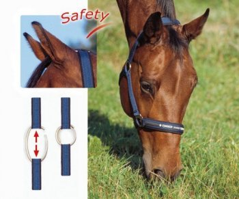 ESKADRON SAFETY Halfter mit Zierband, navy, Pony