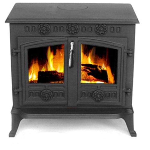 Vortigern 12kW CAST IRON WOODBURNING MULTIFUEL STOVE V6 - genuine CE certificate issued in the UK.