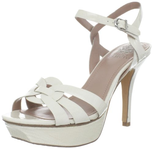 Vince Camuto Women's Toleo Sandal,White Snake Patent,8 M US