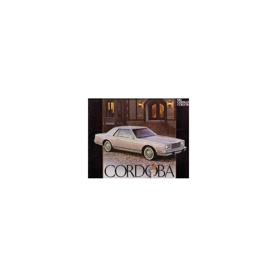 1983 Chrysler Cordoba Sales Brochure Literature Book Colors Specification