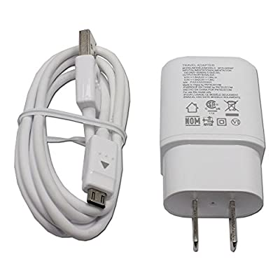 LG MCS-H05WP OEM Standard Travel Adapter Fast Charger Cable for G4 G Flex 2 V10 from PNE