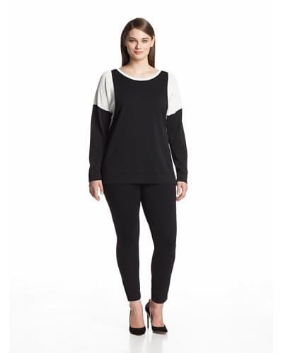 Calvin Klein Plus Women's Colorblock Dolman Sweater