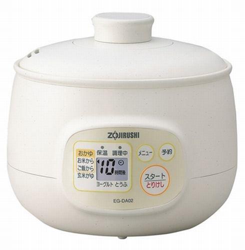 象印 マイコンおかゆメーカー 茶わん5杯分 EG-DA02-WB  ホワイト
