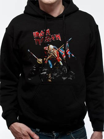 Iron Maiden -Trooper- men's black pull over hoodie (Medium)