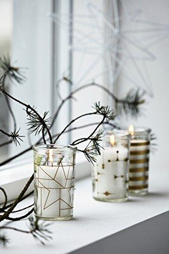 House Doctor - 3er Set Kerzen im Glas