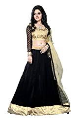 JIYA FASHION NEW DESIGNER LEHENGA BLACK+BEIGE