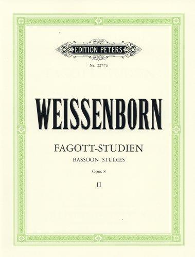 ワイゼンボーン: バスーン練習曲 Op.8 第2巻/ペータース社