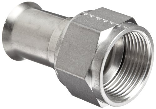 Dixon SFMF1000 Stainless Steel 304 Female Threaded 37 Degree JIC Weld End Hose Fitting, Straight with Nut and Sleeve, 1