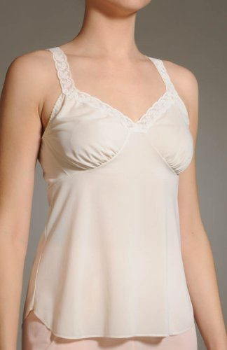 Shadowline Camisole with Stretch Lace Straps 44/Ivory
